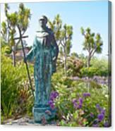Garden At Carmel Mission-california Canvas Print