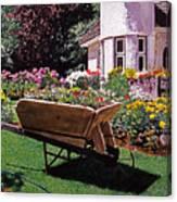 Garden At Patio Lane Canvas Print