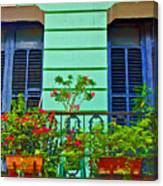 Garden Balcony Canvas Print