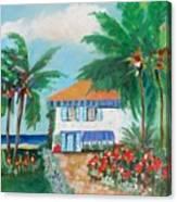 Garden Beach House Canvas Print