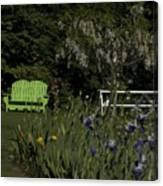 Garden Bench Green Canvas Print
