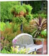 Garden Benches 5 Canvas Print