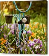 Garden Bicycle Canvas Print
