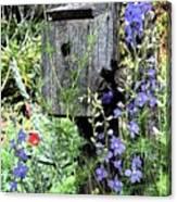 Garden Birdhouse Canvas Print