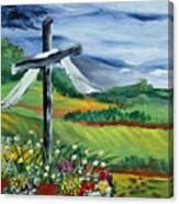 Garden Cross Canvas Print
