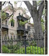 Garden District House Canvas Print