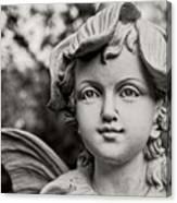 Garden Fairy - Sepia Canvas Print
