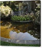 Garden Fountain Pond Canvas Print