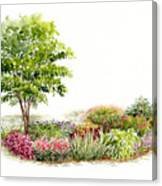 Garden Fresh Watercolor Painting Canvas Print