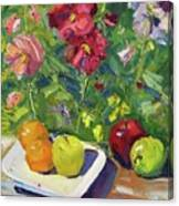 Garden Fruit And Flowers Canvas Print
