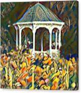 Garden Gazebo Watercolor Canvas Print