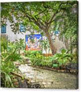 Garden In The Square Canvas Print