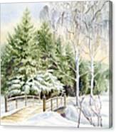 Garden Landscape Winter Canvas Print