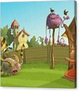 Garden Monsters Canvas Print