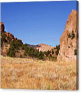 Garden Of The Gods View Canvas Print
