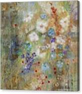 Garden Of White Flowers Canvas Print