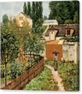 Garden Path In Louveciennes Canvas Print