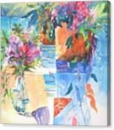Garden Pool Canvas Print