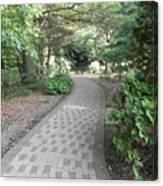 Garden Sidewalk Canvas Print