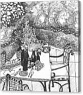 Garden Table Canvas Print