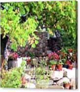 Garden Terrace Canvas Print