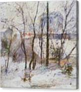 Garden Under Snow Canvas Print