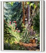 Garden View Window Canvas Print