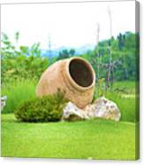 Garden With Amphora. Canvas Print