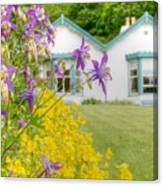 Gardener's Cottage At The Walled Victorian Gardens Of Kylemore Canvas Print