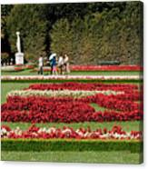Gardens Of The Schloss  Schonbrunn  Vienna Austria Canvas Print