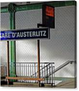 Gare D'austerlitz In Paris, France Canvas Print