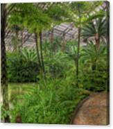 Garfield Park Conservatory Pond And Path Chicago Canvas Print