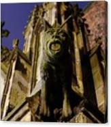 Gargoyle At The Dom Church In Utrecht In The Evening 188 Canvas Print