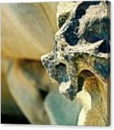 Gargoyle Coming Out Of The Rocks Gabriola Island. Canvas Print