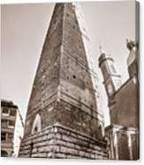 Garisenda Tower In Bologna Canvas Print