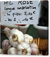 Garlic And Dried Apricots For Sale Canvas Print