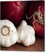 Garlic And Onions Canvas Print