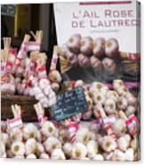 Garlic At A French Market Canvas Print