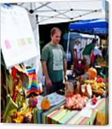 Garlic Festival Vendors Canvas Print