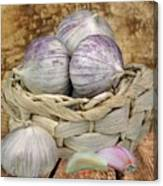 Garlic In The Basket Canvas Print