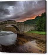 Garron Bridge Sunset Canvas Print