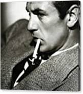 Gary Cooper Smoking C.1935 Canvas Print