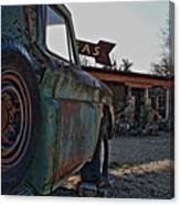 Gas And Truck Canvas Print