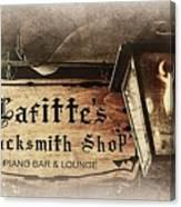 Gas Light At Lafitte's Blacksmith Shop Canvas Print