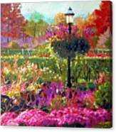 Gas Light In The Garden Canvas Print