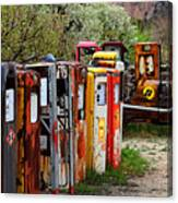 Gas Pump Conga Line In New Mexico Canvas Print