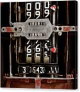 Gas Pump Meter Canvas Print