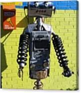 Gas Station Robot Canvas Print
