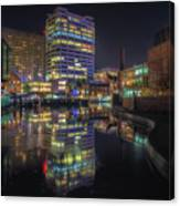 Gas Street Basin At Night Canvas Print