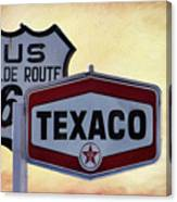 Gasoline Signs Canvas Print